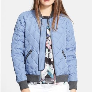 Rebecca Taylor Quilted Puffer Bomber Jacket